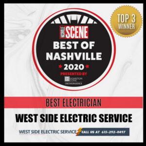 Best Nashville Electrician Service Award