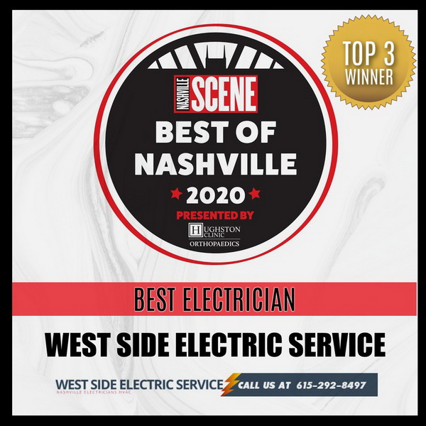 Best Nashville Electrician Service Award